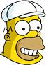 King-Size Homer Happy Icon