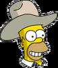 Cowboy Homer Happy Icon
