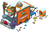 Reindeer Burger Truck 01 Flipped Snow Menu