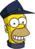 Conductor Homer Happy Icon