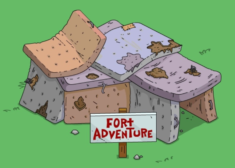 Image result for simpsons fort adventure
