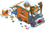 Reindeer Burger Truck 01 Snow Menu