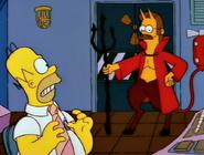 Homer with Devil Flanders