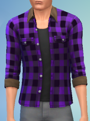 File:YmTop ShirtFlannelRolled SolidPurple.png