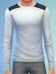 YmTop SweaterCrewBasic White
