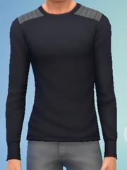 YmTop SweaterCrewBasic Black