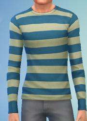 YmTop SweaterCrewBasicStripes StripesYellowCream