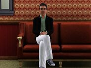 Teen Alex sitting
