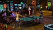 Sims playing ping pong