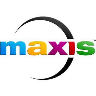 Actual logo de Maxis, vigente desde 2012