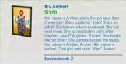 It's Amber!