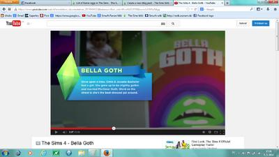 Bella goth in TS4