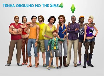 The Sims 4 render with baby