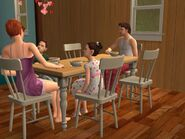 The Stillman Family eating breakfast in TS2