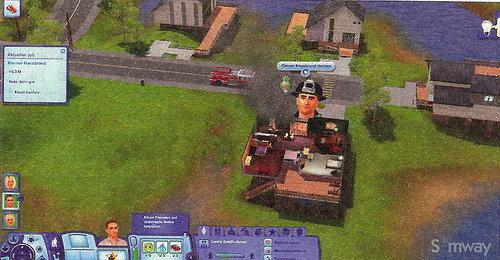 File:Firefighter on a burning house.jpg