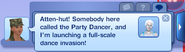 Military Party Dancer Message
