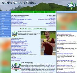 Websites carls sims 3 guide