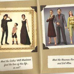 Семьи Гот и Альто в <i>The Sims 3</i>.