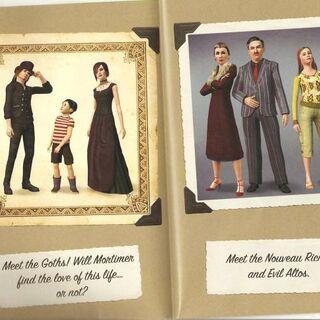 Семья Гот в <i>The Sims 3</i> (слева направо: Гунтер, Мортимер и Корнелия).
