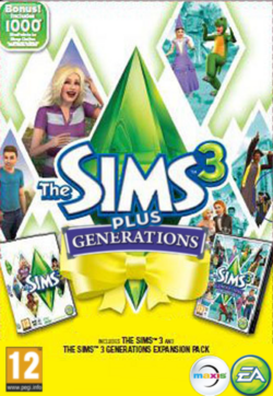 The Sims 3 Plus Generations Cover