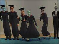 Count Dracula, Eric Morrison, Elizabeth Morrison, Venus Terrano, Arianne Tricou, and Gabbro Igneous