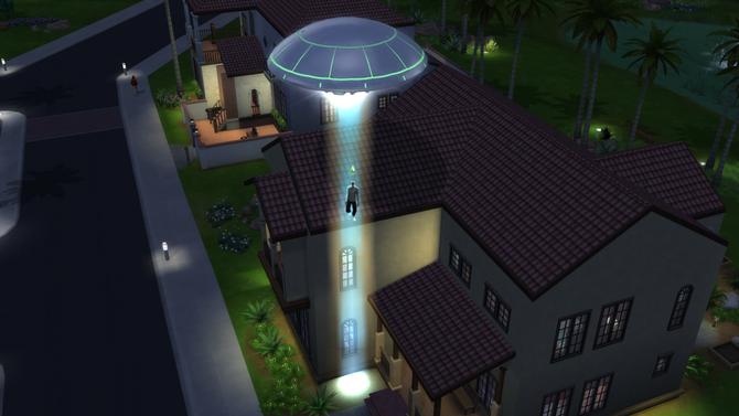 TS4 alien abduction