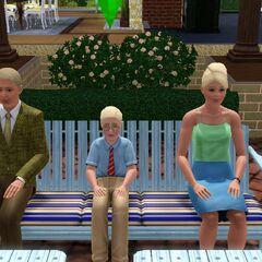 Слева направо: Герберт, Малькольм и Алия