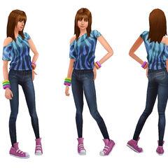 Подросток готовит еду в <i>The Sims 2</i>