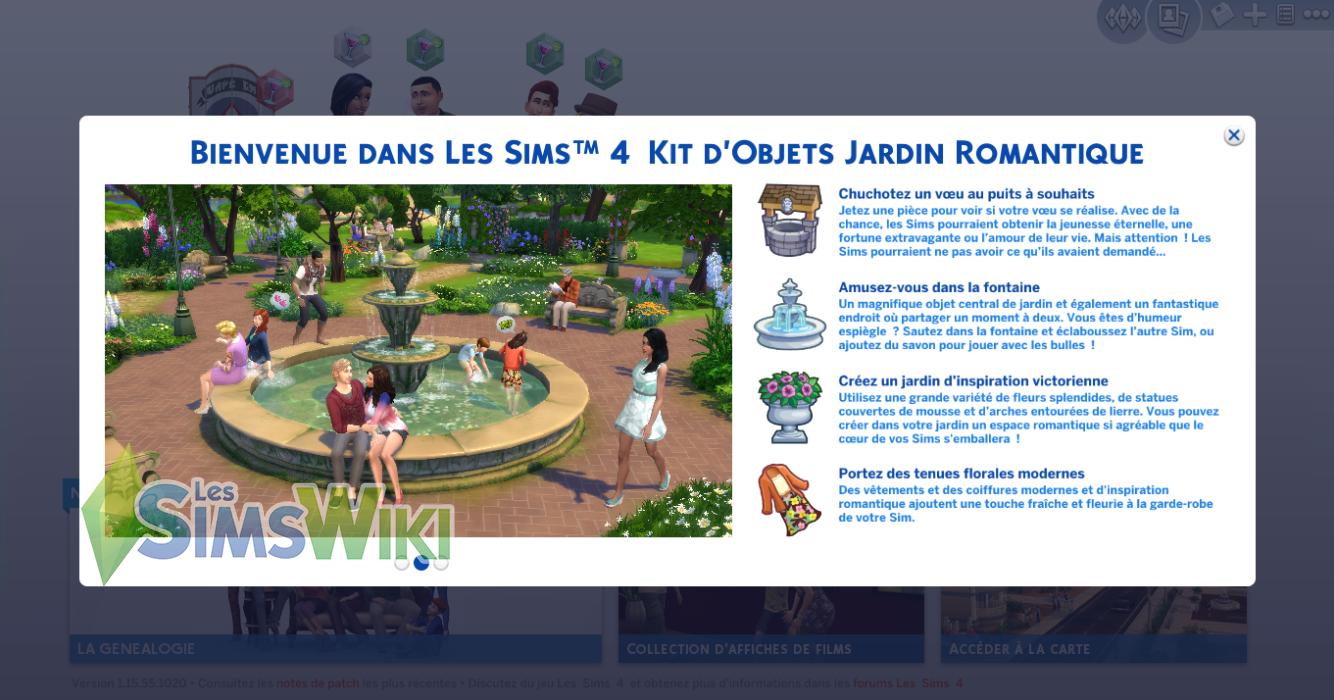 blog utilisateur aster09 test les sims 4 jardin romantique les sims wiki fandom powered by. Black Bedroom Furniture Sets. Home Design Ideas