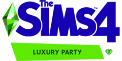 The Sims 4 Luxury Party Stuff Logo