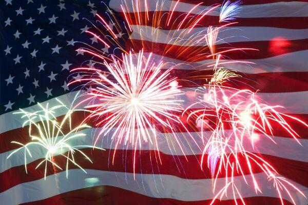 US 4th July flag