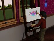 Amalia while Painting