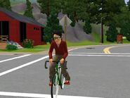 Amalia on Bike