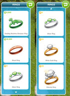 Sims freeplay engagement rings