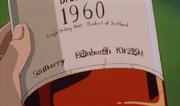 Scapo Scotch Whiskey 1960 - Whiskey Flasche mit Symbolen - Southerry Edinburgh KW2754A