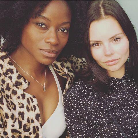 File:BTS Sibongile Mlambo and Eline Powell 7-27-17.jpg