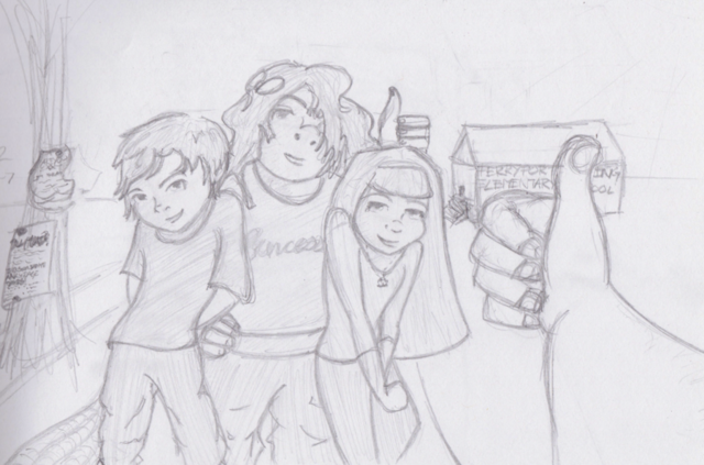 File:Lineart of friends and family by estrangeloedessa-d4vpvp0.png