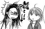 Kanae covers herself from kyoko