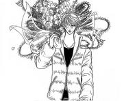 Sho holding flowers for Kyoko