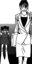 Saena walking away from child kyoko