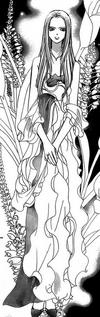 Kyoko in her dress dark moon party