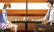 Sawara and kyoko talking lunch