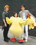 Bo the chiken with the cast