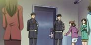 The security guard scene