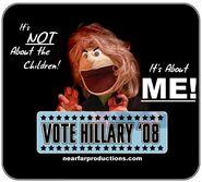 Skippy Shorts Vote Hillary '08
