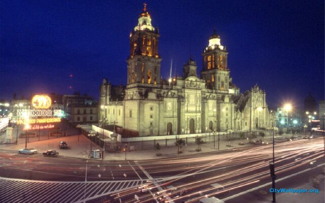 File:Mexico-City-Cathedral-At-Night-Wallpaper-1920x1200.jpg