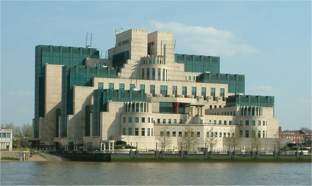 File:Secret Intelligence Service building - Vauxhall Cross - Vauxhall - London - from Millbank.jpg