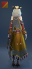 EnchantressRobe Costume Female Back Red