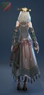 EnchantressRobe Costume Female Back Green