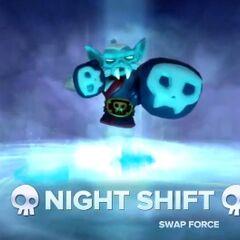 Night Shift entrando al portal